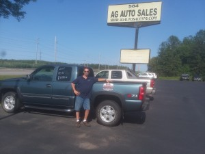 Anthony Gillette, owner of AG Auto Sales, 584 NYS Rt. 104, Ontario, NY 14519